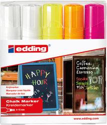 Window Marker 4090, 5er Etui, 2x weiß,neongelb,neonorange,neonpinkVE = 1 Etui á 5 Stifte