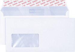 Briefumschlag hochweiss mit grauem Innendruck, DL, 100 g, Haftklebung,VE = Pack = 500 Stück