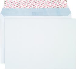 Briefumschlag hochweiss mit grauem Innendruck, C4, 120 g, Haftklebung.VE = Pack = 250 Stück