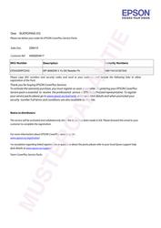 Ersatzteile und Reperatur- Pauschale 4 Jahre für WF-8090DW