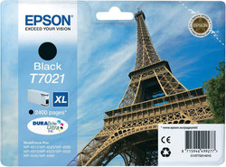 Tintenpatrone T7021 XL schwarz für WorkForce Pro WP-4015DN,WP-4025DW