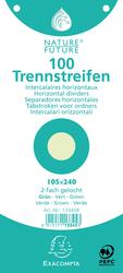 Trennstreifen grün 190g/qm Karton, 105 x 240 mm, gelochtVE = 1 Packung = 100 Stück