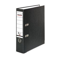 Recycolor Ordner, A4, 80mm, mit geklebtem Rückenschild, schwarz, FSC,