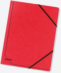 Eckspanner A4 355g Colorspan-Karton mit praktischen Gummizügen rot