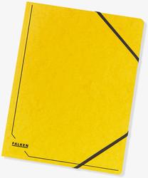 Eckspanner A4 355g Colorspan-Karton mit praktischen Gummizügen gelb