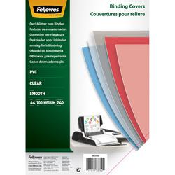Umschlagfolie PVC Deckblatt A4 klar transparent, 240mic.VE = 1 Packung = 100 Stück