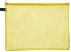 Kleinkrambeutel A6 transparent gelb mit farbigem Reißverschluss