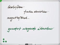 Whiteboard Schreibtafel U-Act, 90x120cm, magnethaftend, weiß,