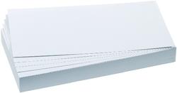 Moderationsrechtecke 9,5x20,5cm 500 Stück Farbe: weißVE = 500 Stück