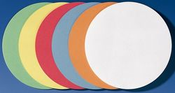 Moderationskreise 14cm # UMZ1499 500 Stück in 6 Farben sortiertVE = 500 Stück