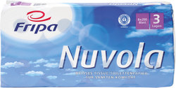 Toilettenpapier Nuvola 3-lagig hochweiß mit BlumenprägungVE = 1 Packung á 8x250 Blatt