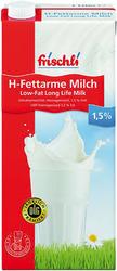 Frischli H-Milch 1 Liter, 1,5% Fett mit Schraubverschluss,VE = 1 Karton = 12 Liter