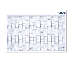 Wandplaner A0 120x84cm 16 Monate 2019 große Tagesfelder, inkl.