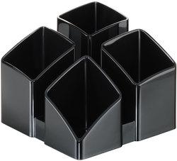 Schreibtisch-Köcher Scala schwarz 125x125x100mm
