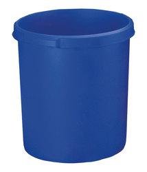 Papierkorb KLASSIK blau 30 Liter Griffrand und Griffmulden