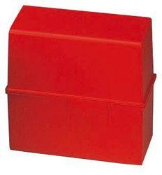 Karteibox A6 quer f.400 Karten rot 165x95x143mm