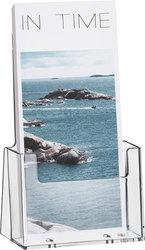 Tischprospekthalter glasklar für 1x1/3 A4/C6 lang 186x116x65mm