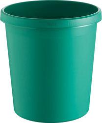 helit Papierkorb mit Rand, 18 l, grün, hochwertiger und stoßfester