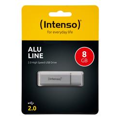 Speicherstick Alu Line USB 2.0, silber, Kapazität 8 GB