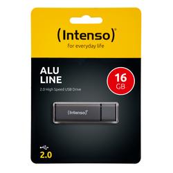 Speicherstick Alu Line USB 2.0, anthrazit, Kapazität 16 GB