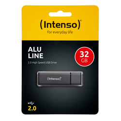 Speicherstick Alu Line USB 2.0, anthrazit, Kapazität 32 GB