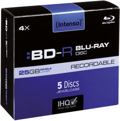 Rohling Blu-Ray 25GB, 4x, Jewel Case 5er