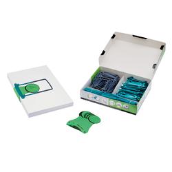 Jalema Archivset Clipex 100er Pack kompettes Set zum Leeren v OrdnernVE = 1 Packung = 100 Stück