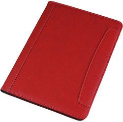 Schreibmappe Kunstleder, rot auf der rechten Seite mit Block