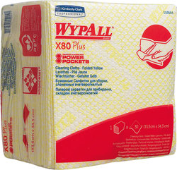 Wischtücher WYPALL X80 Plus, gelb f. Spender 7969, ViertelgefaltetVE = Pack = 30 Tücher