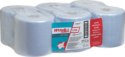 Wischtücher WYPALL L10, blau f. Spender 7017VE = Pack = 6 Rollen