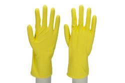 CLEAN COMFORT S(7) Haushaltshanschuh Latex, mit Baumwollflock #07702199