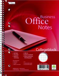 Collegeblock Work A5 kariert 80 Blatt Rand links, 70g/qm, holzfrei