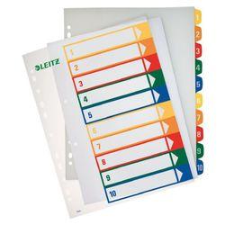 PC-beschriftbare Register,10-Blatt Zahlen 1-10, transparent, PP