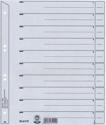 Trennblätter Karton A4 grau Lochung hinterklebt, LinienaufdruckVE = 1 Packung á 100 Stück