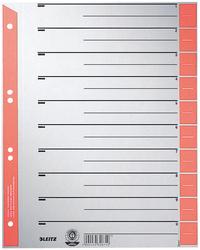 Trennblätter farbig bedruckt rot VE = 1 Packung = 100 Stück