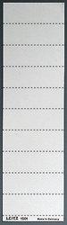 Schild 4zeil. Sichtreiter weiß 100 StückVE = 1 Packung = 100 Stück