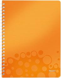 Collegeblock WOW A4 PP-Einband kariert, orange metallic