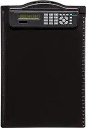 Klemmbrett A4 schwarz # 23254 mit integriertem Solar-Rechner