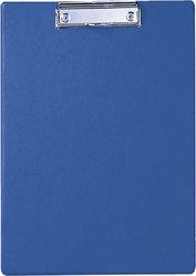 Klemmbrett A4 hoch, blau Karton mit Folienüberzug