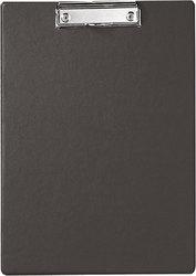 Klemmbrett A4 hoch, schwarz Karton mit Folienüberzug