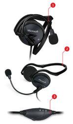 Headset mit Nackenbügel, LifeChat LX-2000, faltbar, mit Reiseetui