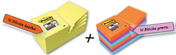 Post-it Super Sticky Notes 12 Bl. in gelb 48x48 mm + 12 Blöcke Super StickyVE = Packung = 24 Blöcke à 90 Bl.