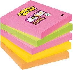 Haftnotiz Post-it Super-Sticky 76x76mm Neonfarben1 Pak = 5 Blöcke
