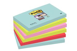 Post-it Haftnotiz-Block 127x76 mm Miami CollectionVE = 1 Pack = 6 Blöcke