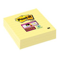 Post-it Super Sticky, 101x101 mm liniert, gelbVE = 1 Pack = 3 Blöcke
