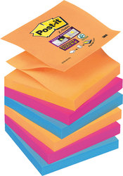 Post-it® Super Sticky Z-Notes R33012SY 6 Blöcke á 90 Blatt,VE = 1 Packung = 6 Blöcke