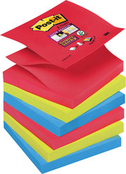 Post-it® Super Sticky Z-Notes R33006SJ 6 Blöcke á 90 Blatt,VE = 1 Packung = 6 Blöcke