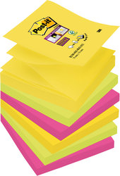 Post-it Super Sticky Z-Notes 76x76 Rio de Janeiro CollectionVE = 1 Pack = 6 Blöcke a 90 Blatt