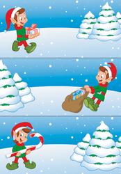 Geschenketiketten Wichtel beglimmert 2 Blatt