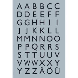 Buchstaben 13x12mm A-Z Silberfol sw 4Bl 1Pack